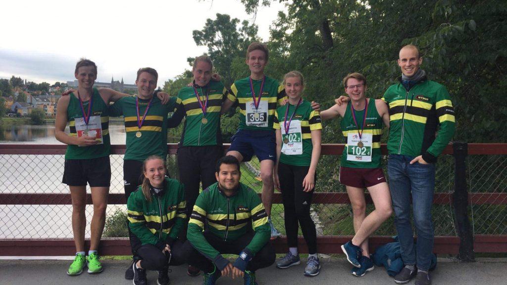 Happy people after running Trondheim Marathon