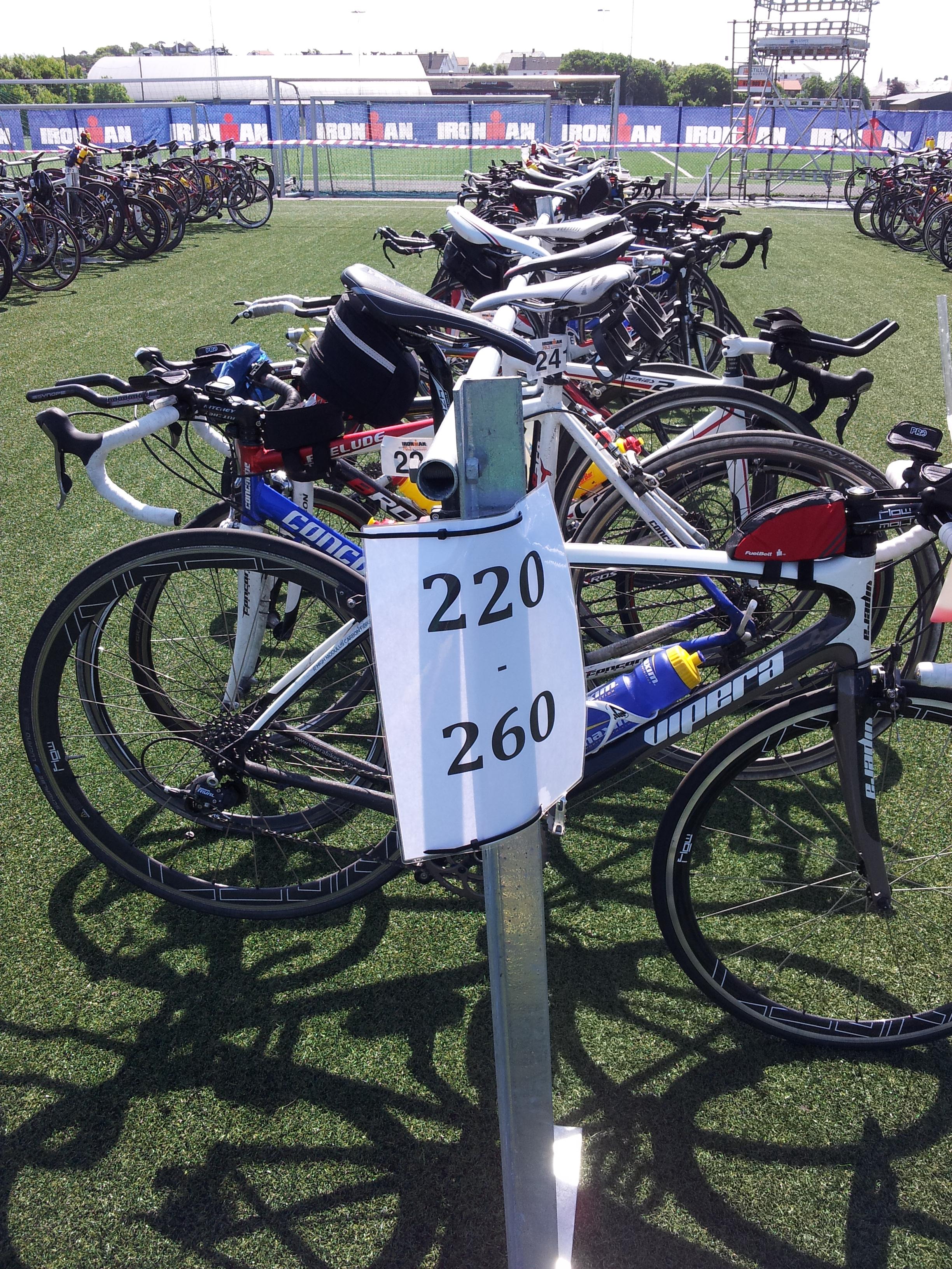 Noen som tør å anslå samlet verdi av sykler på stativet? ;)