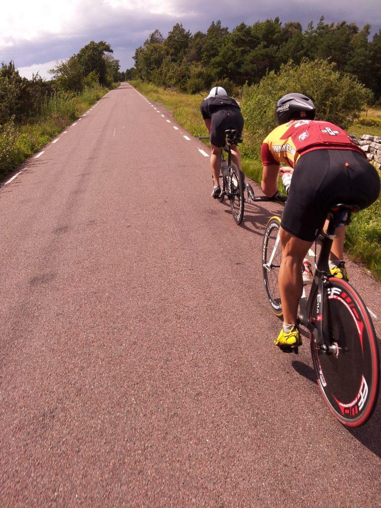 Rimelig flatt terreng i sykkeltraseen :)