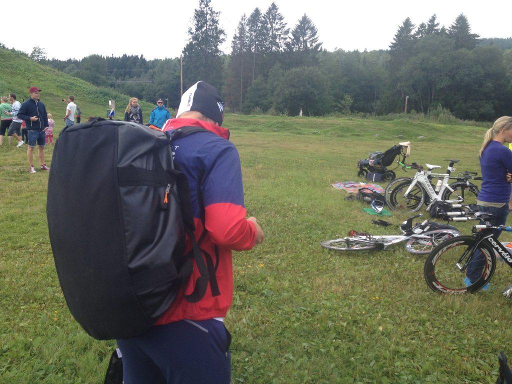 Torgeir på Sognsvann før start lørdag morgen.