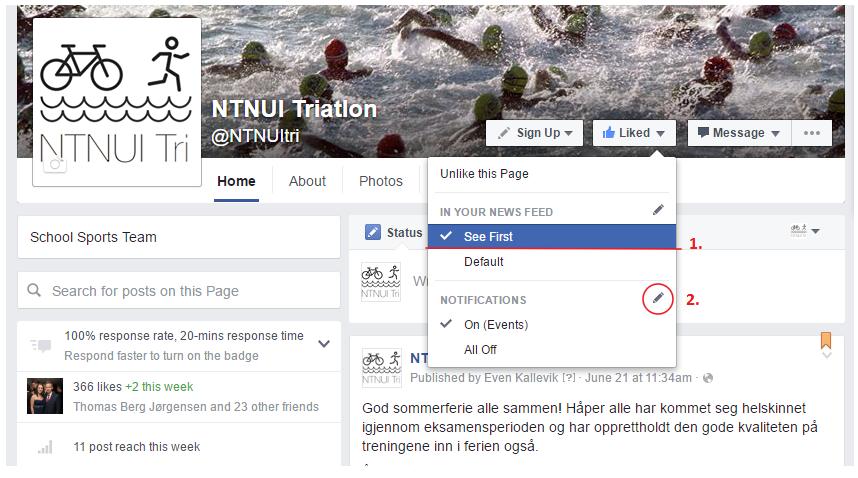 facebook priority